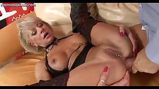 A kinky blond Mummy gets fucked by a big dick