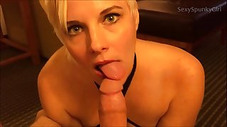 Oops! Wrong Hotel Room! Hot Blonde Pounds & Deep-throats a Stranger