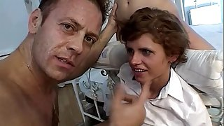 Rocco Siffredi's hard hard-on for two youthfull sluts